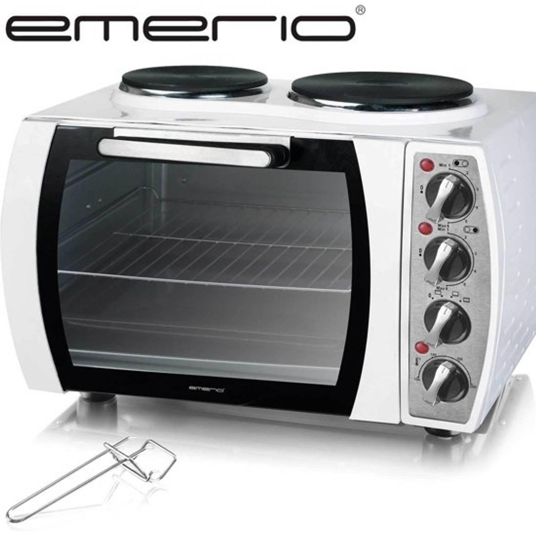 Elektrisch Oven 2930W + kookplaat - 28 liter WIT MO-114979.1 Emerio