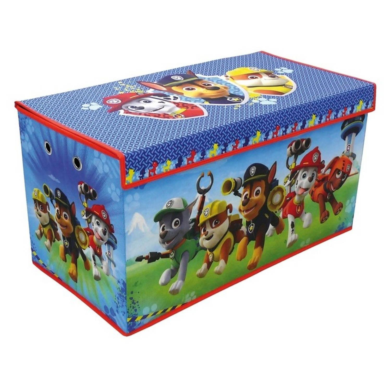 Afbeelding van Blauwe Paw Patrol speelgoed opbergbox 76 cm - Speelgoed opruimen/opbergen - Kinderkamer meubels