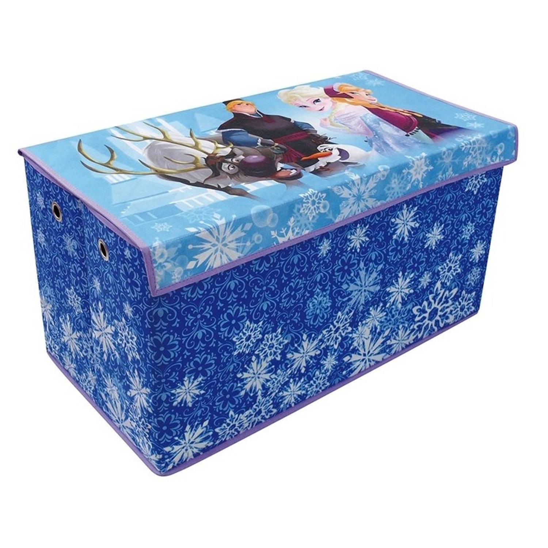 Afbeelding van Blauwe Disney Frozen speelgoed opbergbox 76 cm - Speelgoed opruimen/opbergen - Kinderkamer meubels