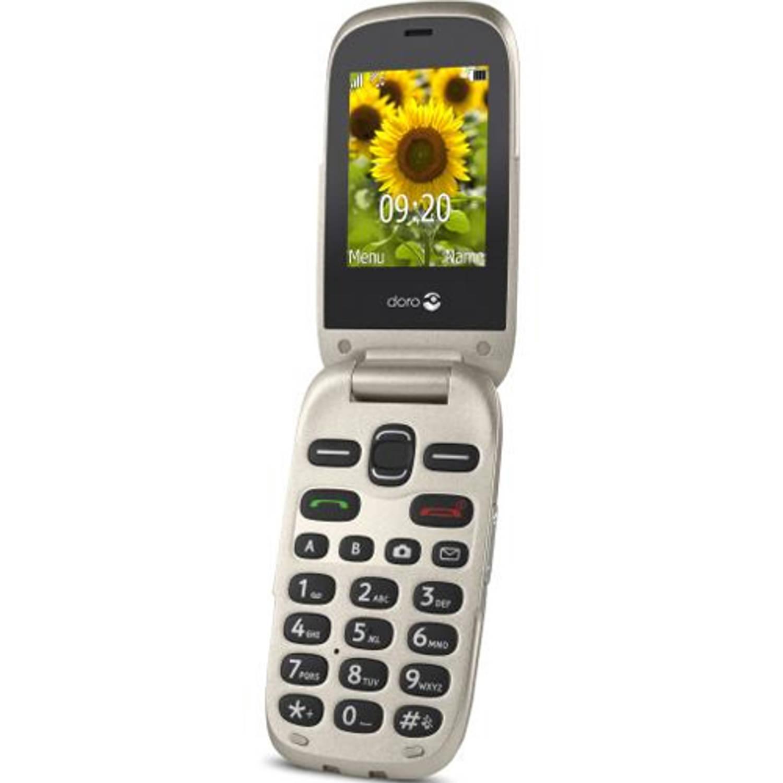 Doro 6030 GSM klaptelefoon - Champagne .