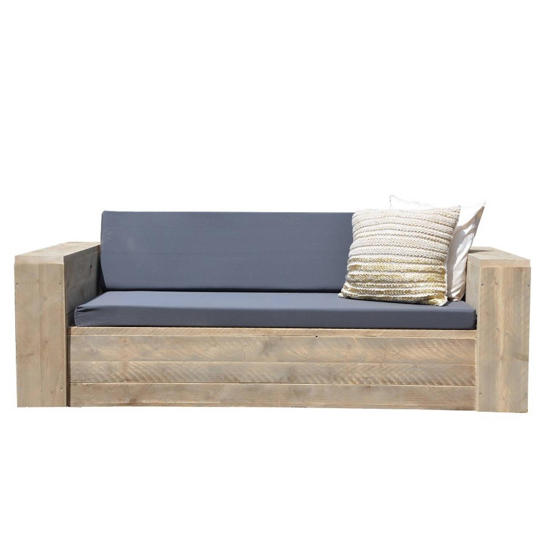 Loungebank steigerhout 250Lx70Hx80D cm