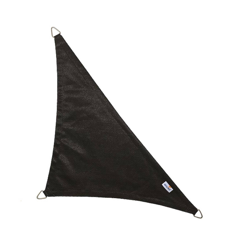 Coolfit schaduwdoek driehoek 90 graden zwart 5.0 x 5.0 x 7.1 meter