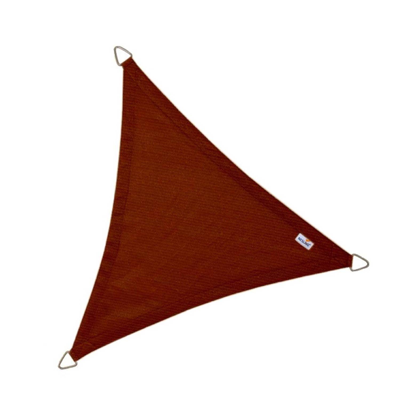 Coolfit schaduwdoek driehoek terracotta 5.0 x 5.0 x 5.0 meter