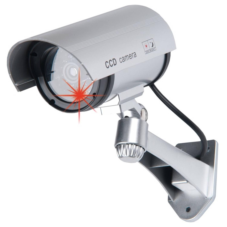 3x Dummy beveiligingscamera met led indicatie Inbraakbeveiliging