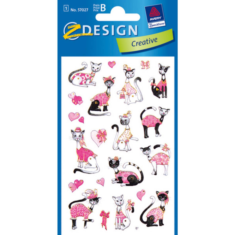 Korting Papieretiket Z design Creative Pakje A 1 Vel Katten