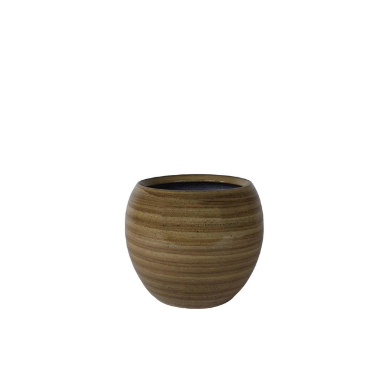 5 stuks Bloempot Pot Cresta caramel D17 H13 cm TS