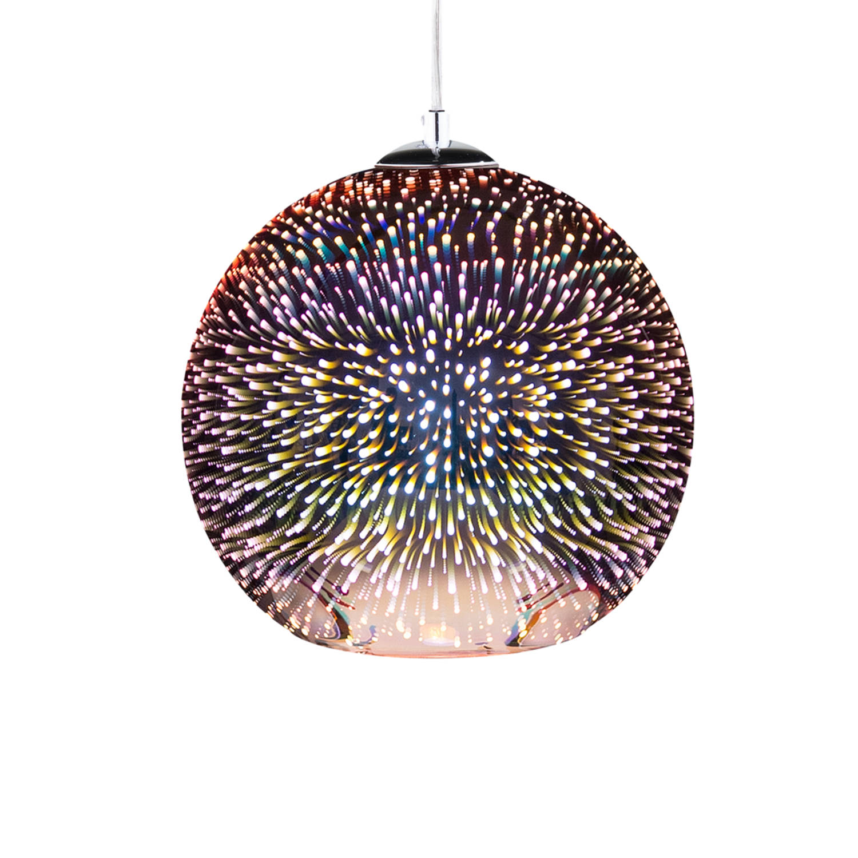 Korting Beliani Sessera Hanglamp Glas 15 X 25 Cm