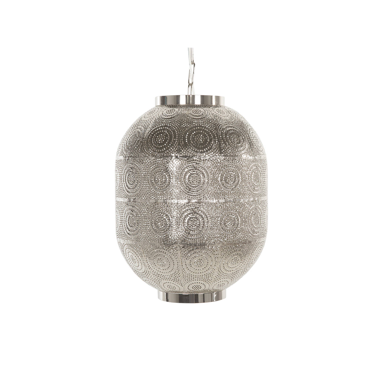 Beliani MARINGA Hanglamp Zilver Metaal 23x23x82