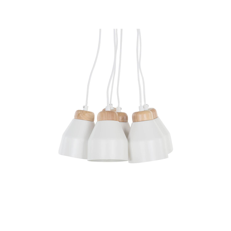 Beliani Cestos Hanglamp Wit Metaal 12x12x68
