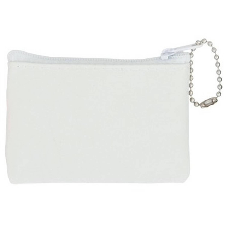 Korting Mini Portemonnee portefeuille Wit 8,5 X 6 Cm Tassen Accessoires Voor Dames heren Portemonnees Sleutelhangers