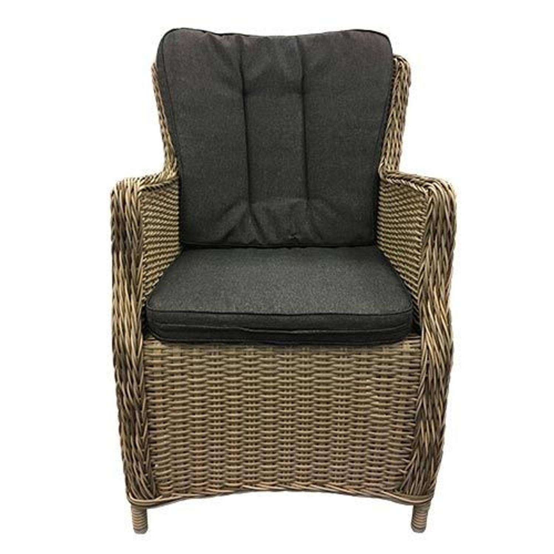 Canossa Dining stoel incl handgreep Wicker HM02 Kobo stof 239