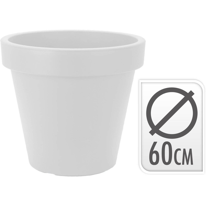 Bloempot Rond 60 X 52 Cm Wit