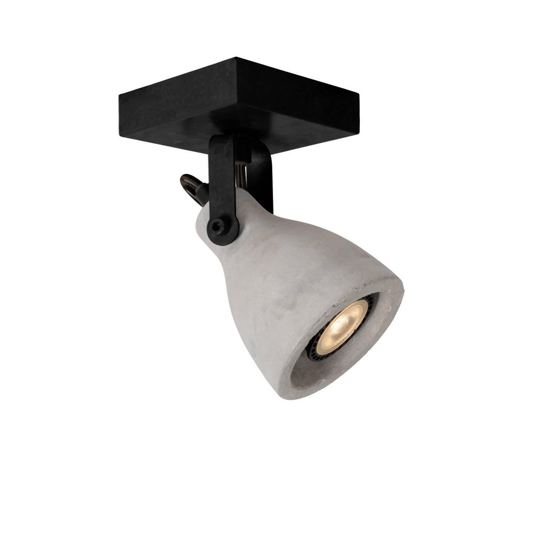 Lucide CONCRI-LED Spot 1xGU10/5Wincl 320LM 3000K Zwart