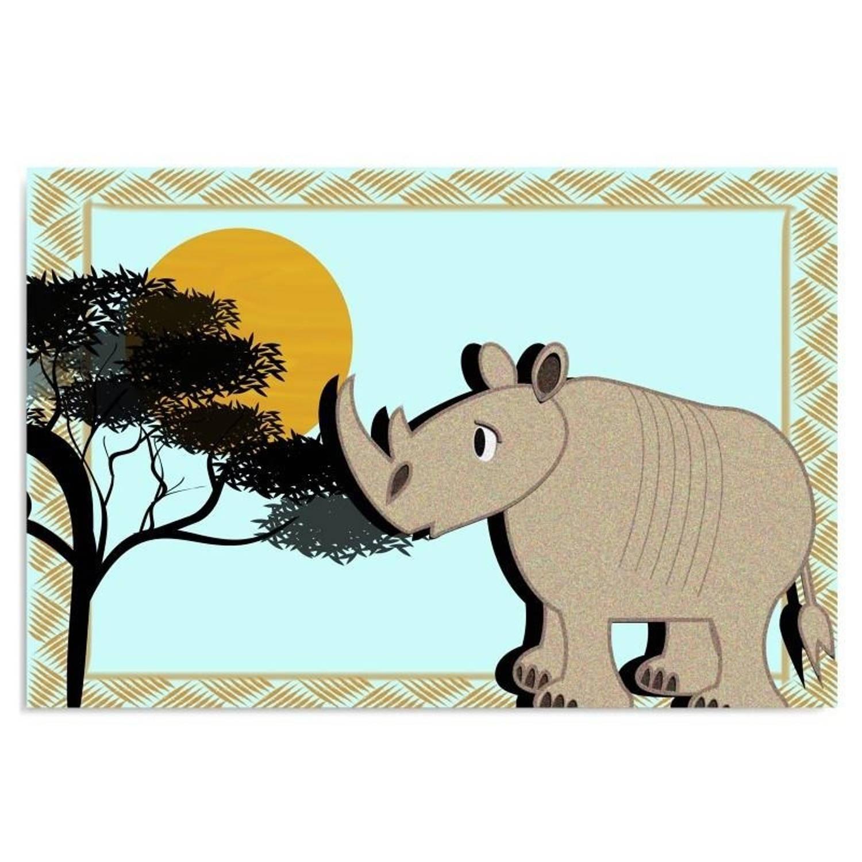 Schilderij Het vrolijke nijlpaard, kinderkamer 120x80
