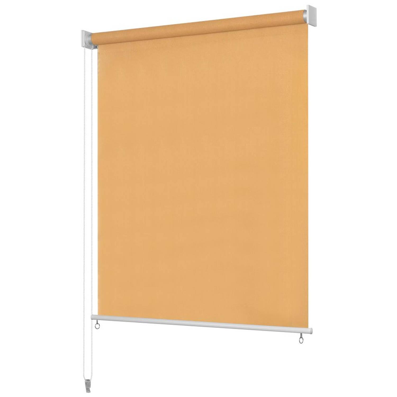 vidaXL Rolgordijn voor buiten 120x230 cm beige