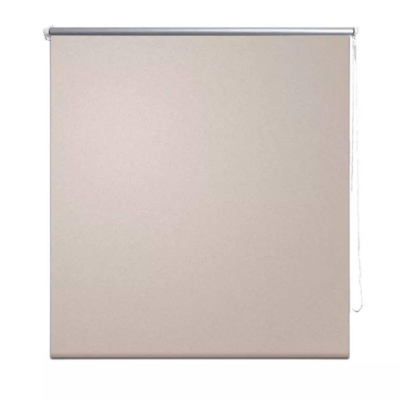 vidaXL Rolgordijn verduisterend 80 x 175 cm beige