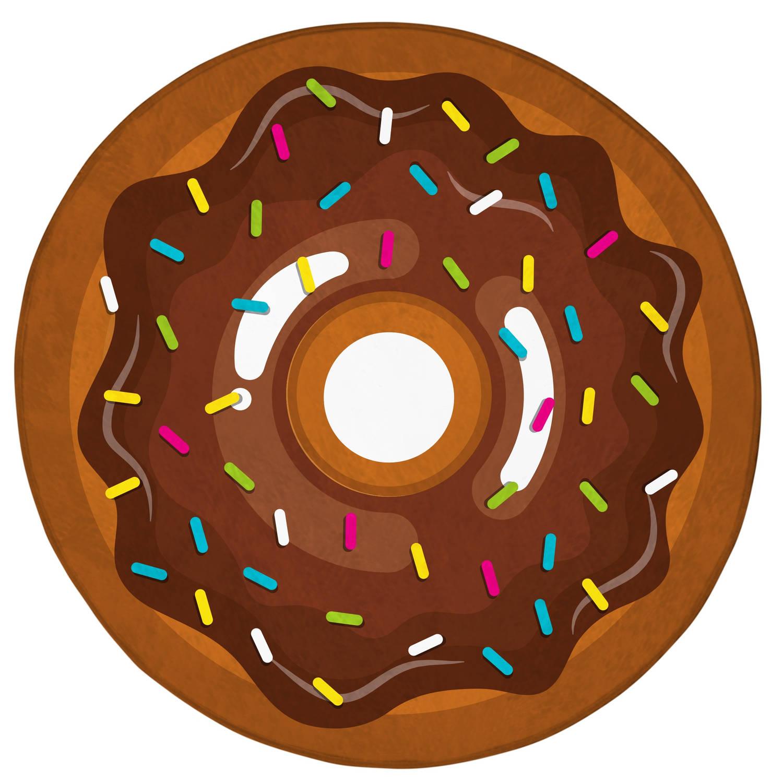 House of Kids vloerkleed donut 75 cm bruin