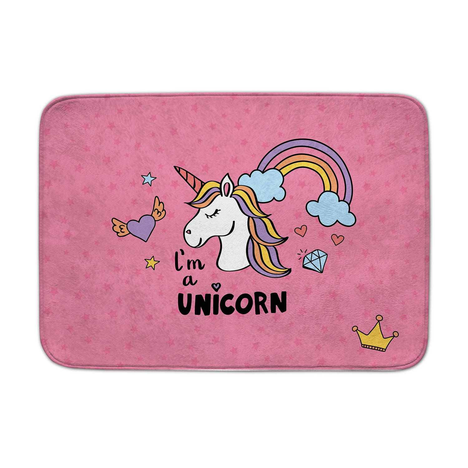 House of Kids vloerkleed I'm a unicorn 100 x 150 cm roze