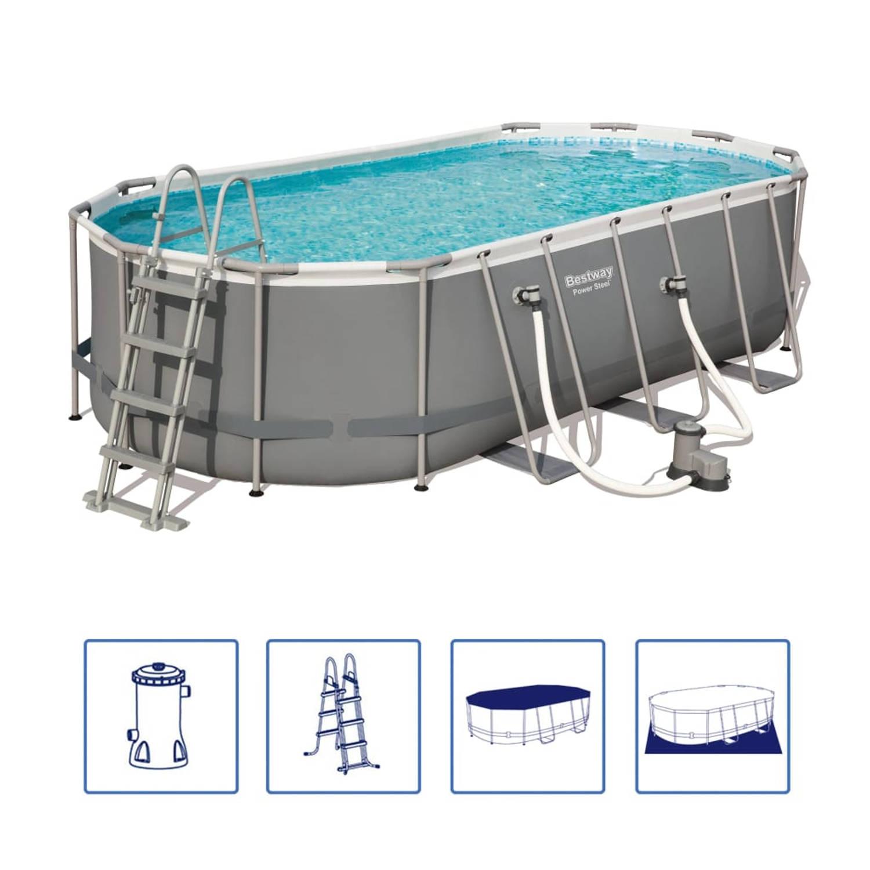 Bestway Power Steel zwembadset ovaal 56710