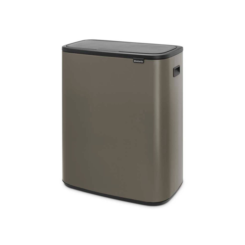 Brabantia Touch Bin 30 Liter Afvalemmer.Brabantia Bo Touch Bin Afvalemmer Met 2 Kunststof Binnenemmers 2 X 30 Liter Platinum