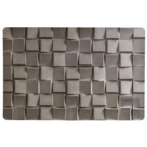 1x stuks Placemats grijze steen print 45 cm - Placemats/onderleggers tafeldecoratie - Tafel dekken