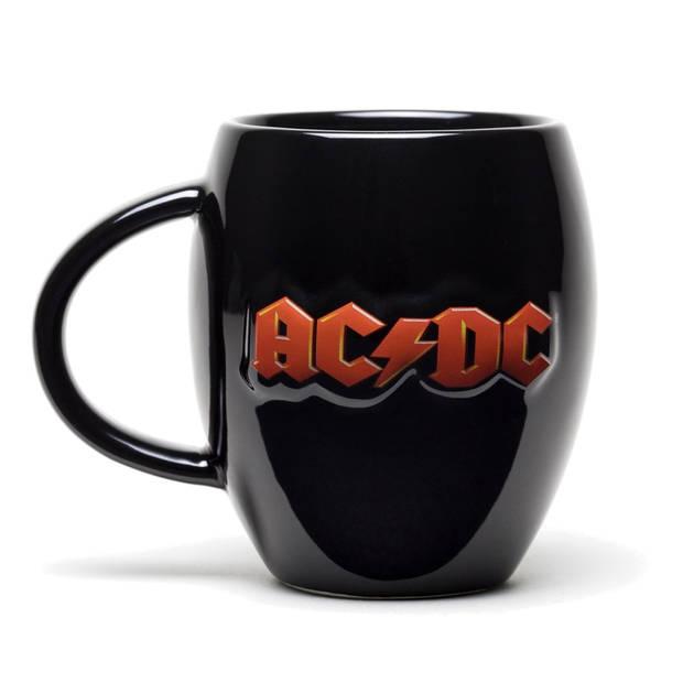 GB Eye ovale mok AC/DC-logo zwart 440 ml