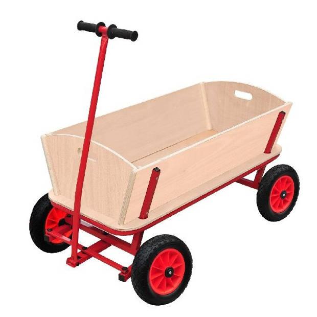 Outdoor houten bolderwagen XXL 90 x 60 x 53 cm naturel