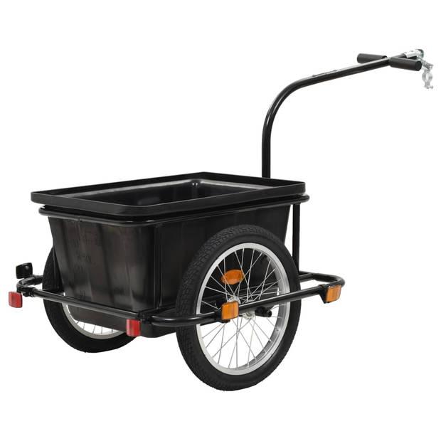 vidaXL Fietskar 50 L zwart