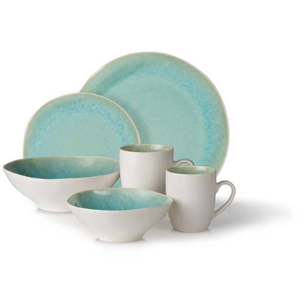Lviv ontbijtbord - 20,5 cm - turquoise