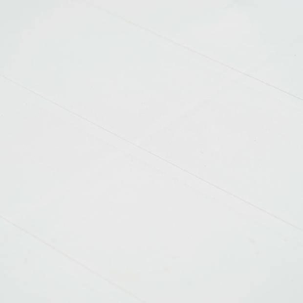 vidaXL Tuintafel 220x90x72 cm rattan-look kunststof wit