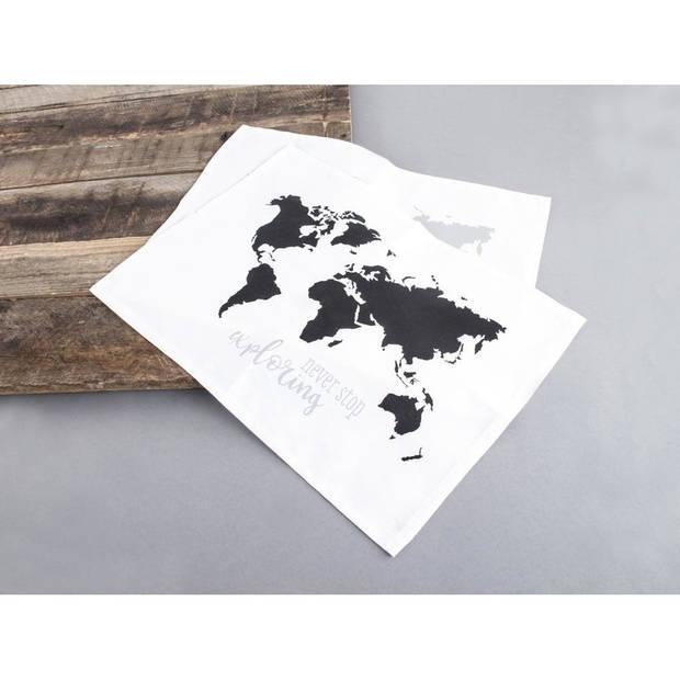 Verfsjabloon wereldkaart A3 formaat - Schildersjablonen/Verfslablonen - Hobbymaterialen/knutselmaterialen