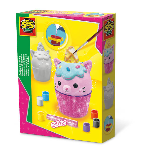 SES Creative gieten en schilderen unikitty cupcake