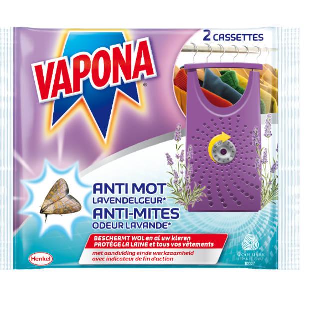 Vapona Insecten Bestrijding - Anti Mot Cassettes Lavendelgeur - 2st.