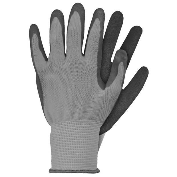 Werkhandschoenen latex grijs S