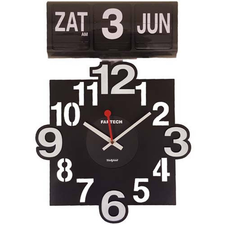Fartech analoge kalenderklok - Flipklok
