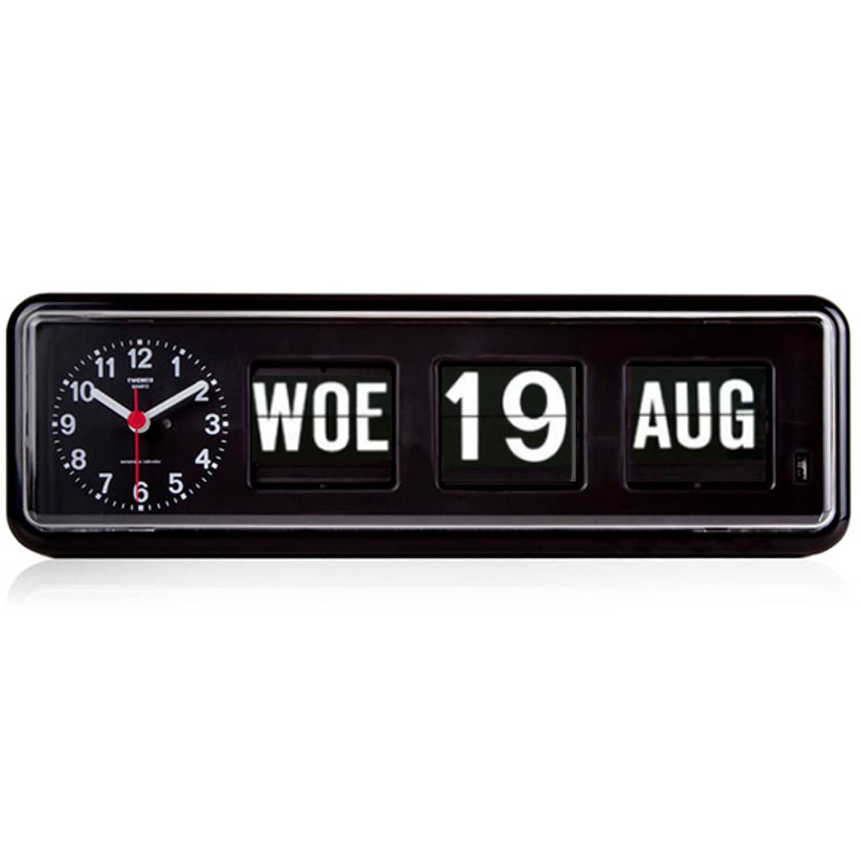 Kalenderklok - Twemco BQ-38 - Zwart Laagste prijsgarantie