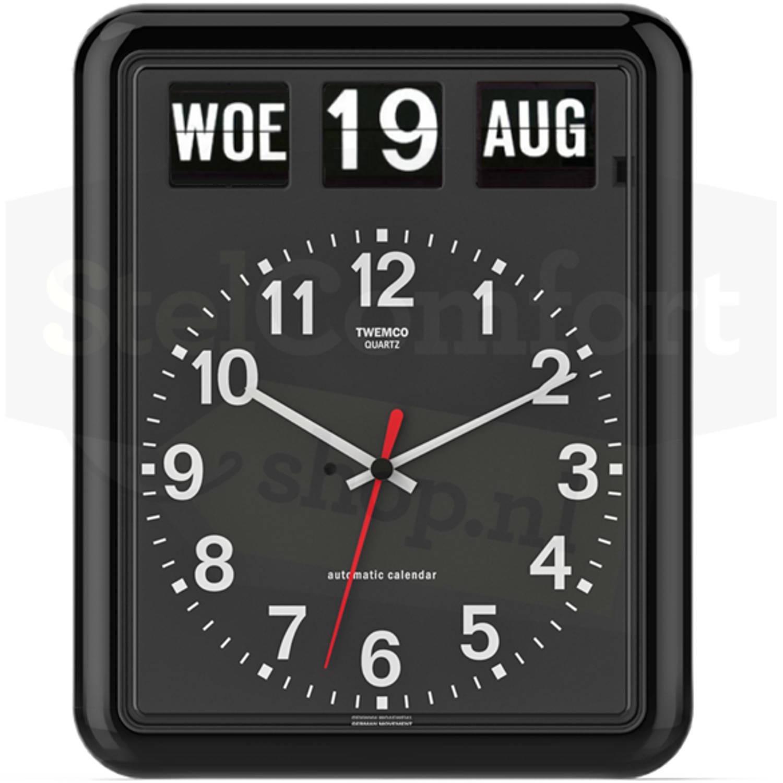 Kalenderklok - Twemco BQ-12 - Zwart Laagste prijsgarantie