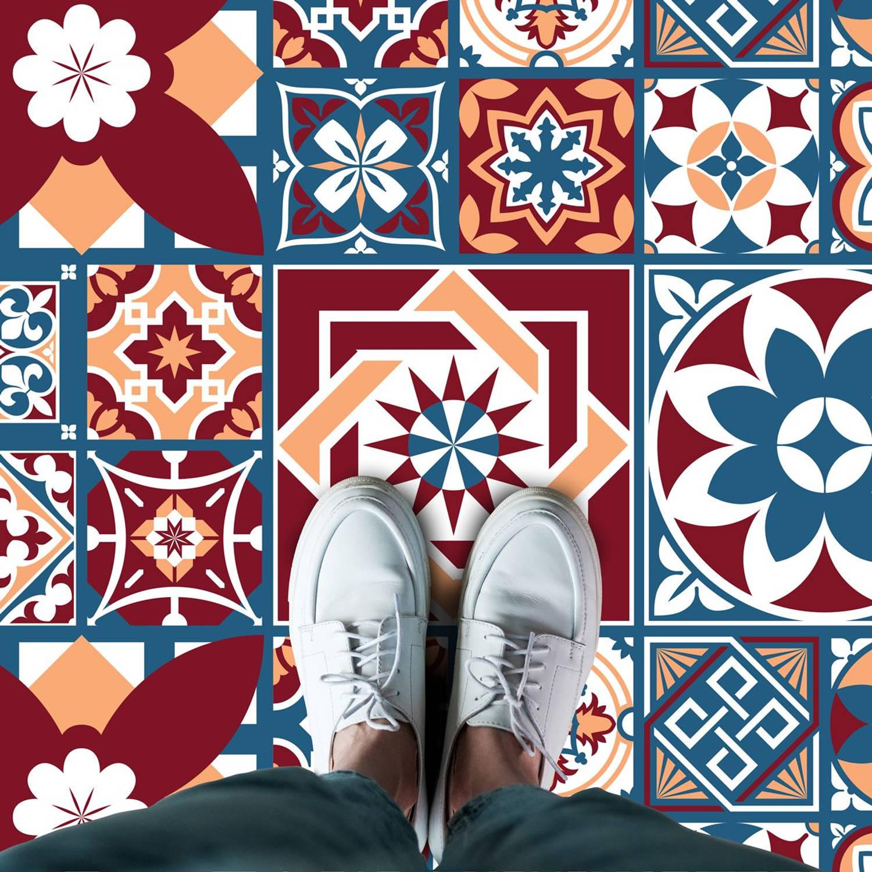 Walplus Westminster Melange - Home Decoratie Sticker - Vloersticker/Wandsticker - 120x60 cm