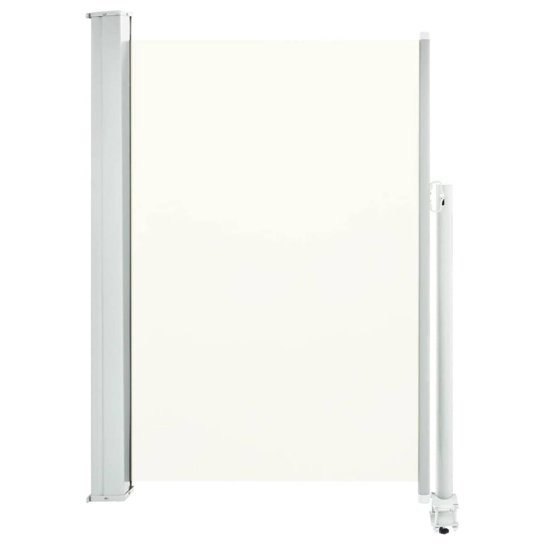 vidaXL Tuinscherm uittrekbaar 120x300 cm crème