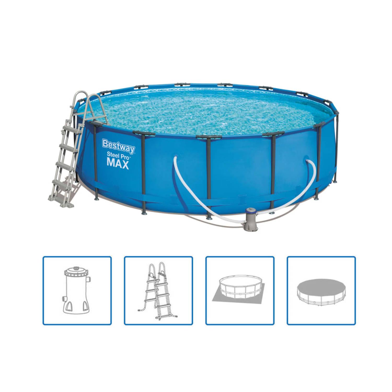 Bestway Steel Pro MAX Zwembadset rond 457x122 cm 56438