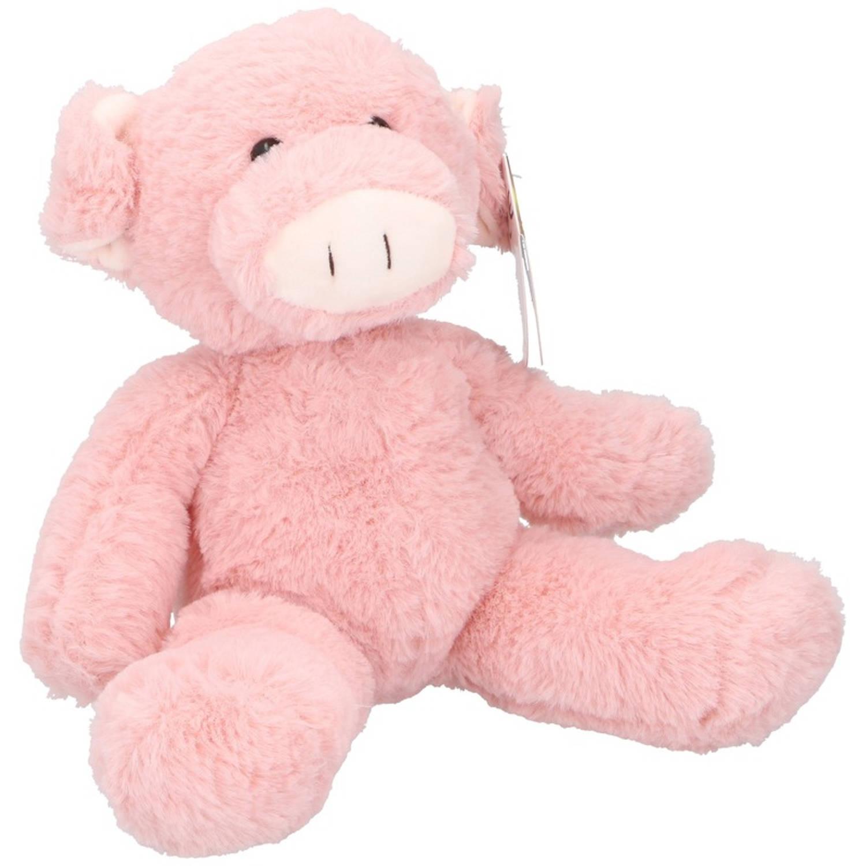 a561408c92fca4 Pluche varken/big knuffel 25 cm - Boerderijdieren varkens knuffels -  Speelgoed voor kinderen