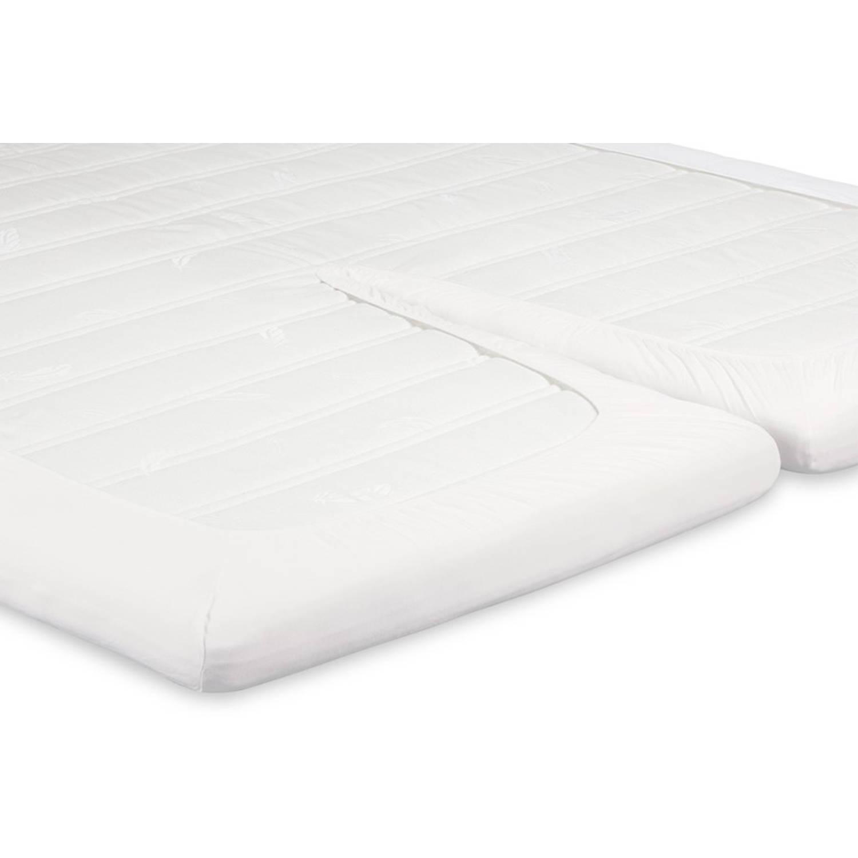 Beter bed Select hoeslaken Jersey splittopper - 160 x 200/210/220 - Offwhite - Katoen