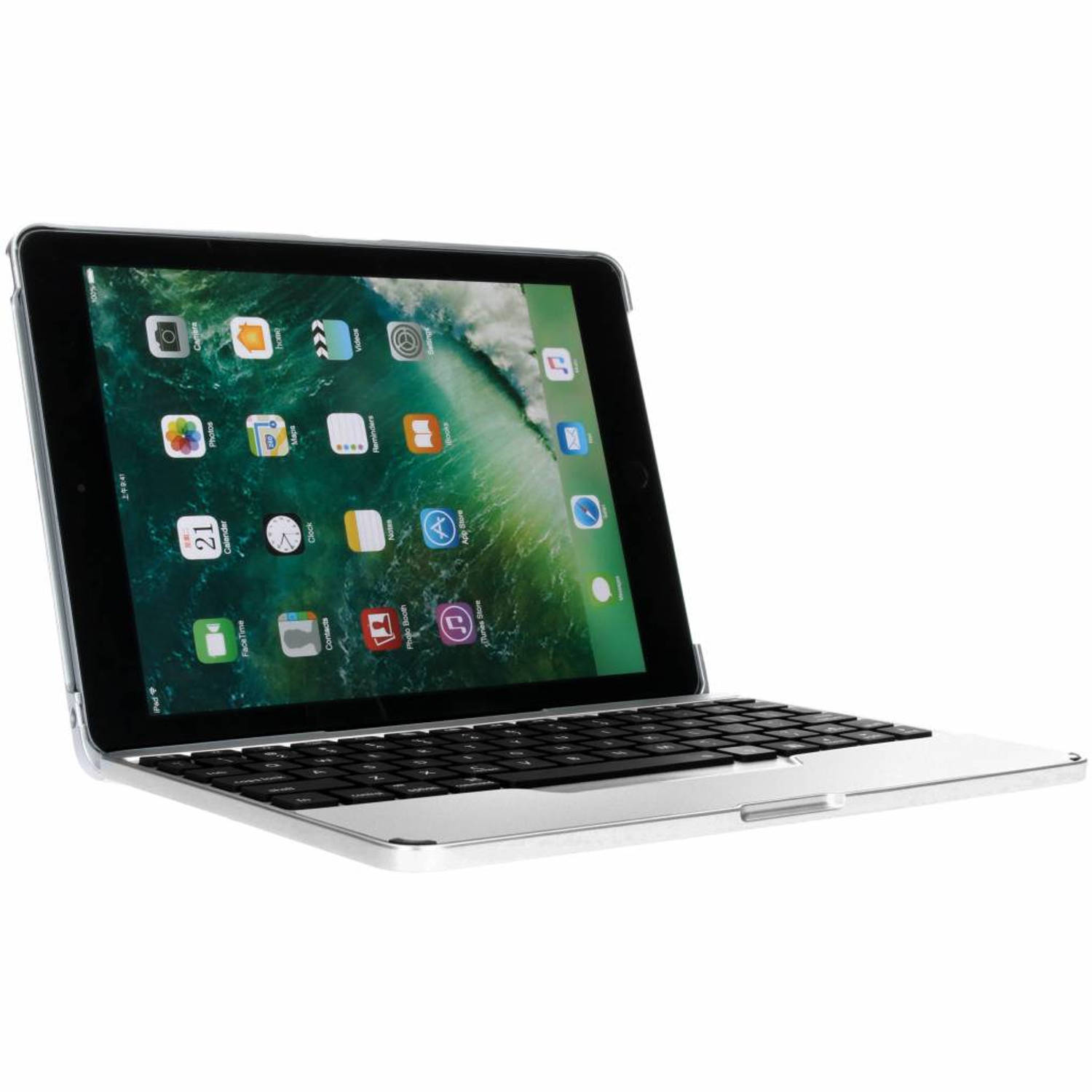 Bluetooth Keyboard iPad (2018) / (2017) / Air (2) / Pro 9.7 - Zilver