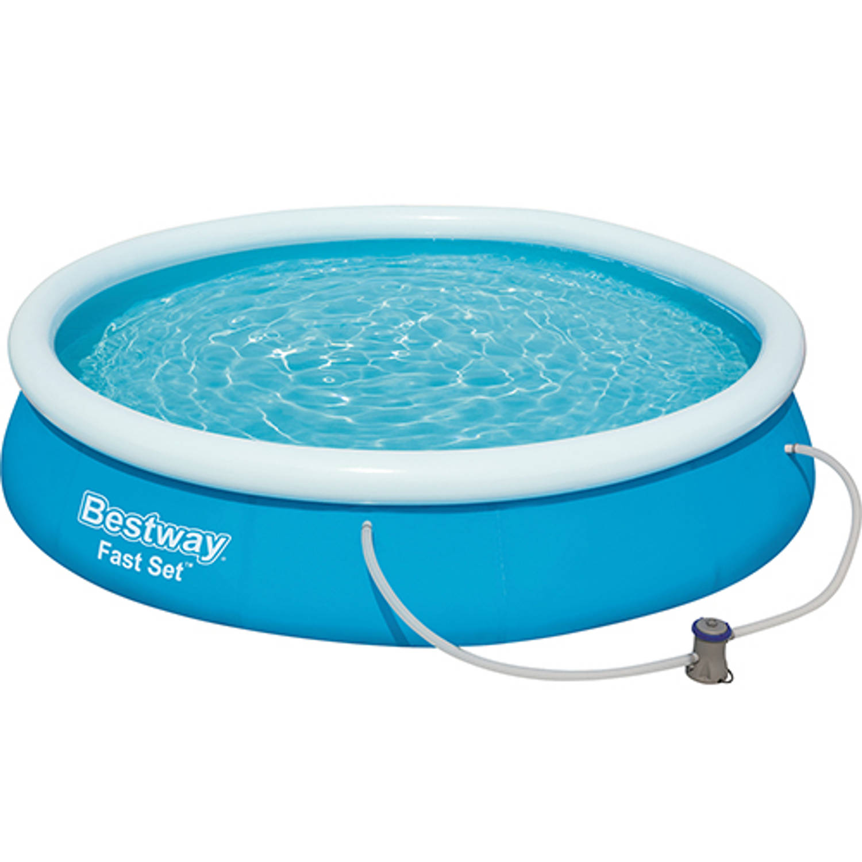 Bestway Fast Set zwembad + filterpomp 366 cm