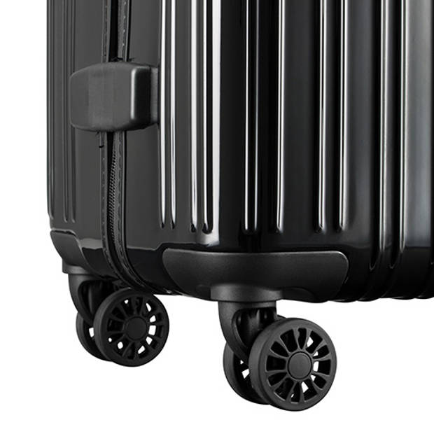 Swiss Mobility Precision Reiskoffer - Luxe TSA 77cm Trolley - Grijs