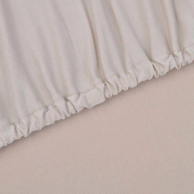 vidaXL Stretch meubelhoes voor fauteuil beige polyester jersey