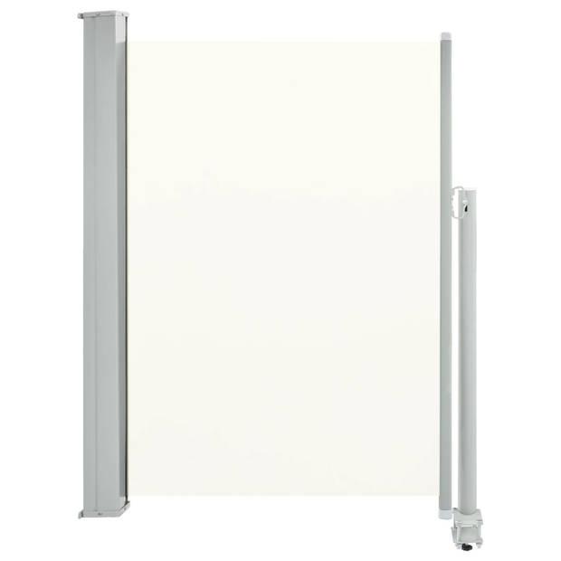 vidaXL Zijluifel uittrekbaar 100x300 cm crème