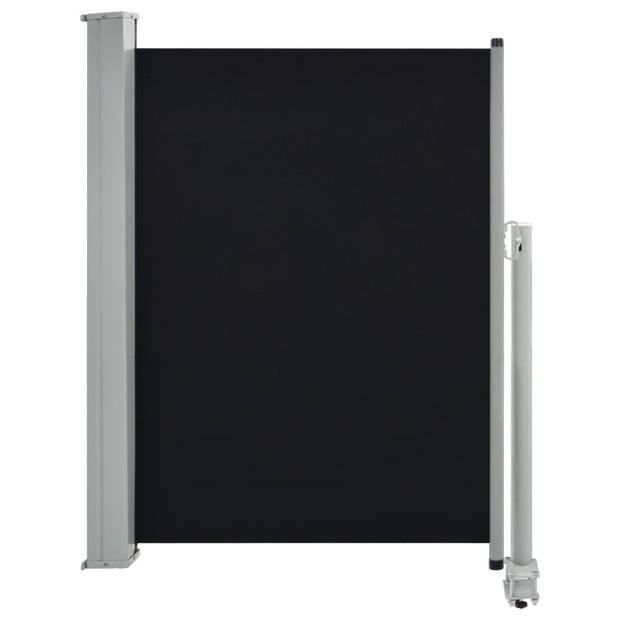 vidaXL Zijluifel uittrekbaar 100x300 cm zwart