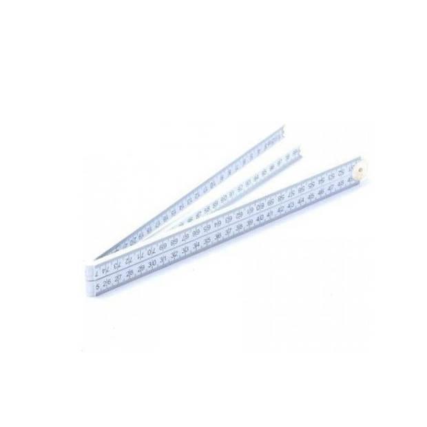 Duimstok fiber meetgereedschap - 100 cm - handgereedschap klusartikelen