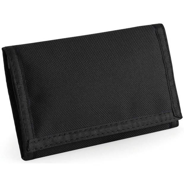 Portemonnee/portefeuille zwart 13 cm - Tassen accessoires voor dames/heren - Portemonnees/pasjeshouder